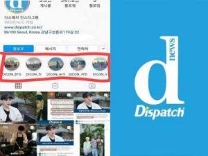 Dispatch officially declared war against BTS - erasing everything about BTS on their Instagram!