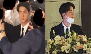 The best Kbiz today - BTS's Jin looks like the groom at the best friend's wedding!