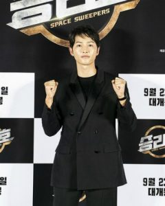 "HOT- Song Joong Ki first appeared in Korea after dating rumors at ""Space Sweepers"" press conference. 1"