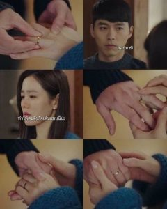 "A close-up of the ""engaged"" ring that Son Ye Jin wears, related to Hyun Bin? 2"
