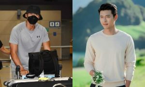 After the rumor getting married with Son Ye Jin, Hyun Bin showed off with strong chest muscle beside a female fan. 3