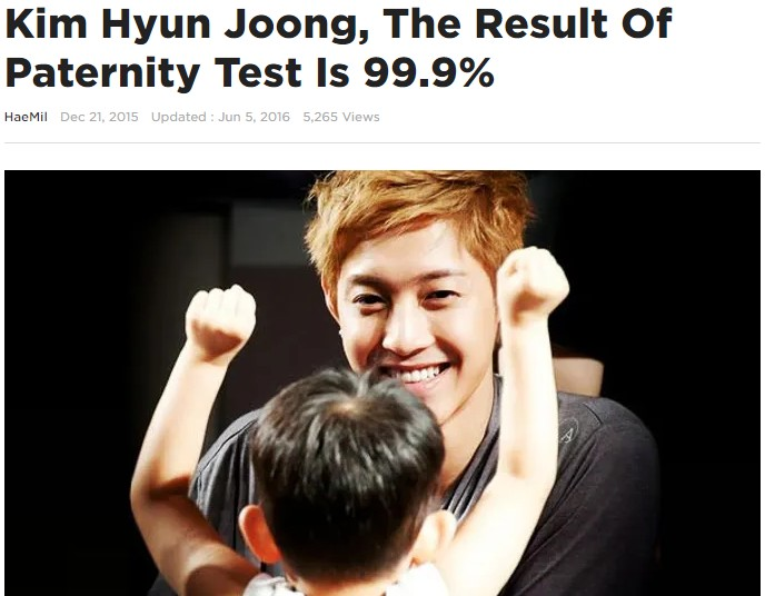 Kim Hyun Joong and his son with ex-girlfriend: The DNA test confirmed that he is a real biological father! 2