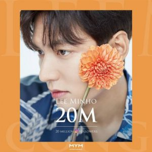 HOT- Lee Min Ho set a record as the first Korean celebrity to reach 20 million followers on both Facebook and Instagram 1