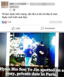 The truth about the image of Hyun Bin - Son Ye Jin dating in France is being shared by fans 1