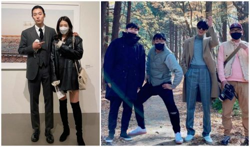 HOT- Lee Min Ho and 'screen lover' Park Shin Hye immediately cause fever on social media because of their super long legs! 1