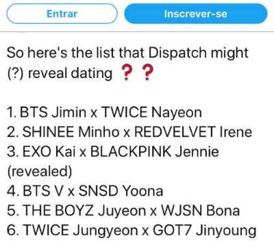 Who will be Dispatch Couples 2021? BTS's Jimin and Twice's Nayeon is dating spreading on social media! 1