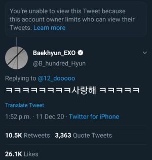EXO's Baekhyun shocked when responding to netizen's comment cursing Chen, the fandom reacted furiously! 2