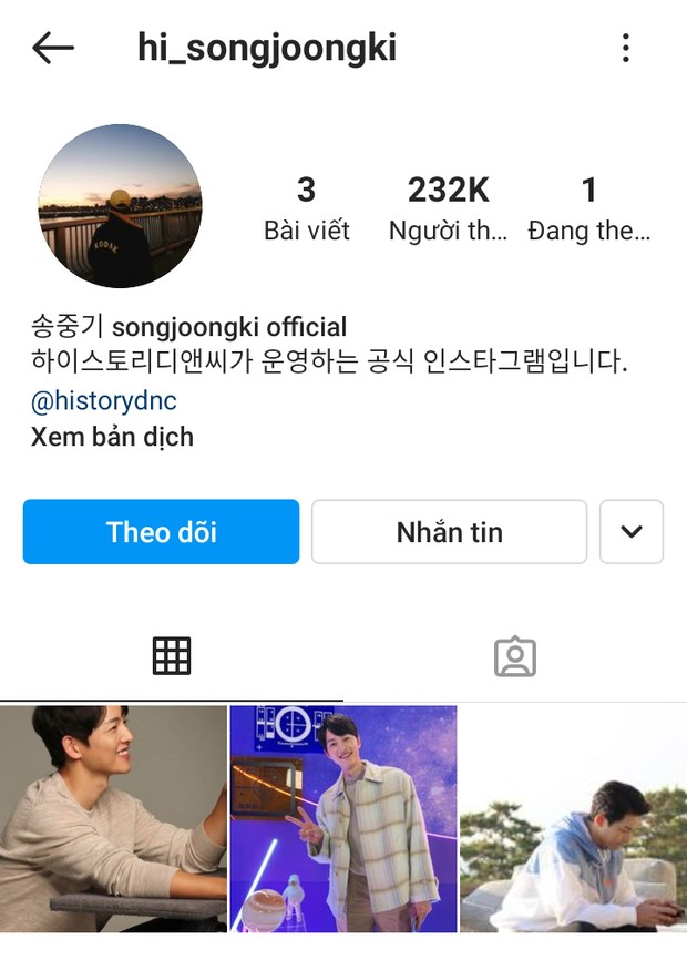 Song Joong Ki finally opened his personal Instagram, And he only followed a special account! 1