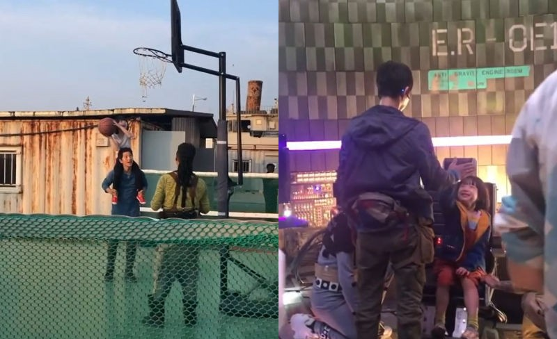 Song Joong Ki proves his love for children when spotted loving, caring and playing with child actress Park Ye-rin during shooting 3