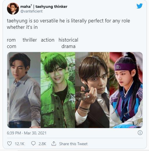BTS'S V Trending on Twitter
