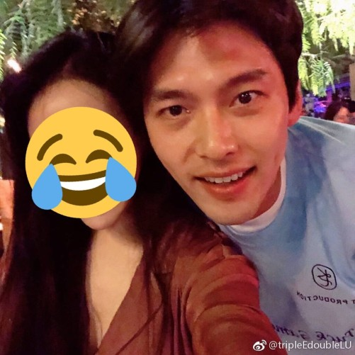 Hyun Bin caused a fever with a series of pictures holding beautiful girls, Son Ye Jin would be jealous when she saw this scene 😅 4