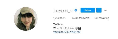 via IG @taeyeon_ss