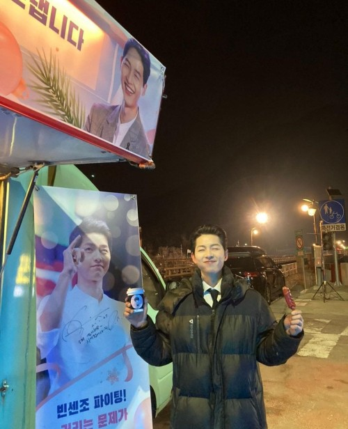 Song Joong Ki Thanking Everyone For Supporting Vincenzo While They Were Filming! 2