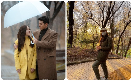 Son Ye Jin alone went to see the cherry blossoms alone