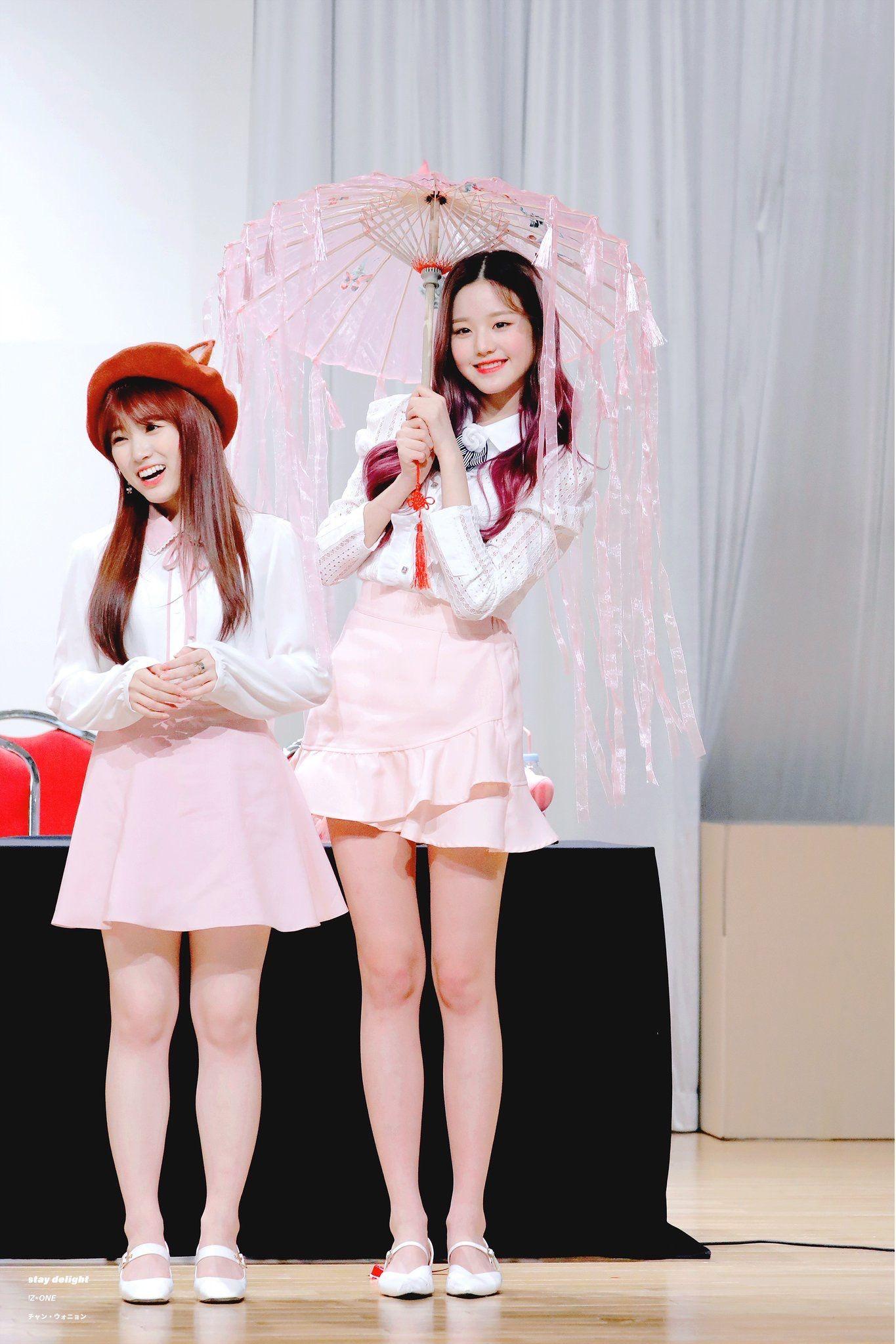 IZ*ONE Nako and Wonyoung