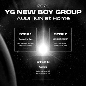 YG Entertainment Opens 2021 Global Audition for a new Boy Group