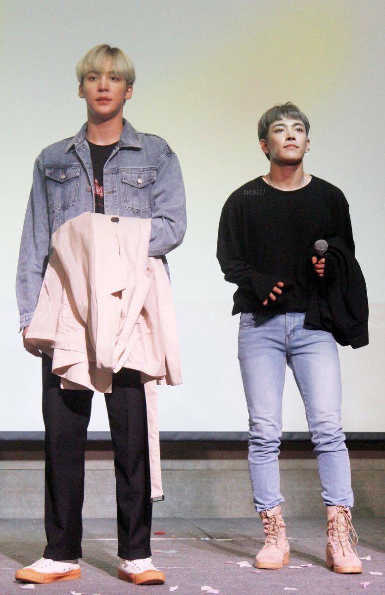 ATEEZ Yunho and Hongjoong