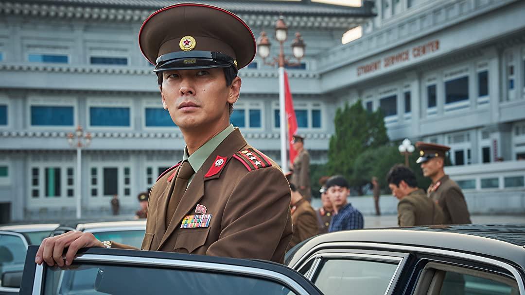 "Joo Ji Hoon as Head Jung in ""The Spy Gone North"""