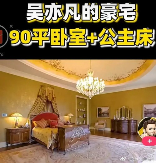 Kris Wu's super villa was revealed in the midst of a scandal, including a princess bed that confused netizens. 6