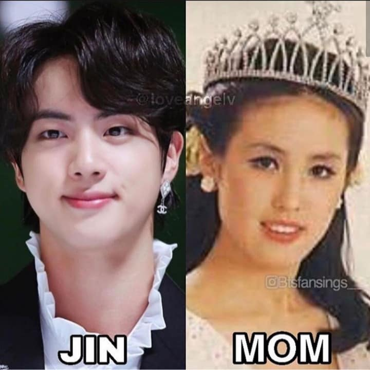 Revealing about BTS JIN's Mom is Beauty Pageant Queen? Jin's mysterious mother is a former Miss Korea! 1