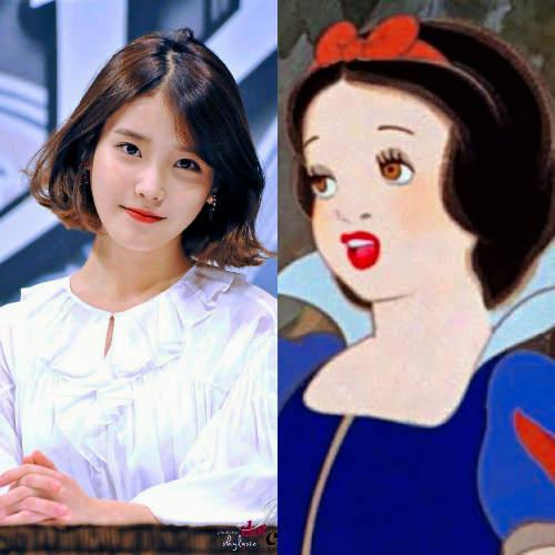 IU as Snow White