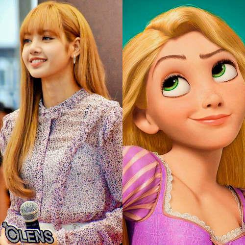 BLACKPINK's Lisa as Rapunzel