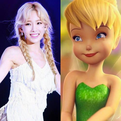 Girls' Generation's Taeyeon as Tinkerbell