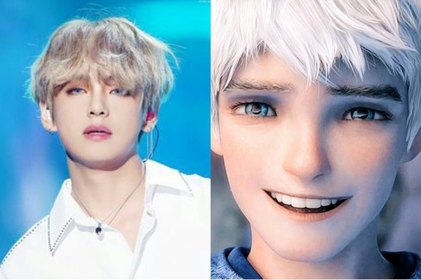BTS Taehyung/V as Jack Frost