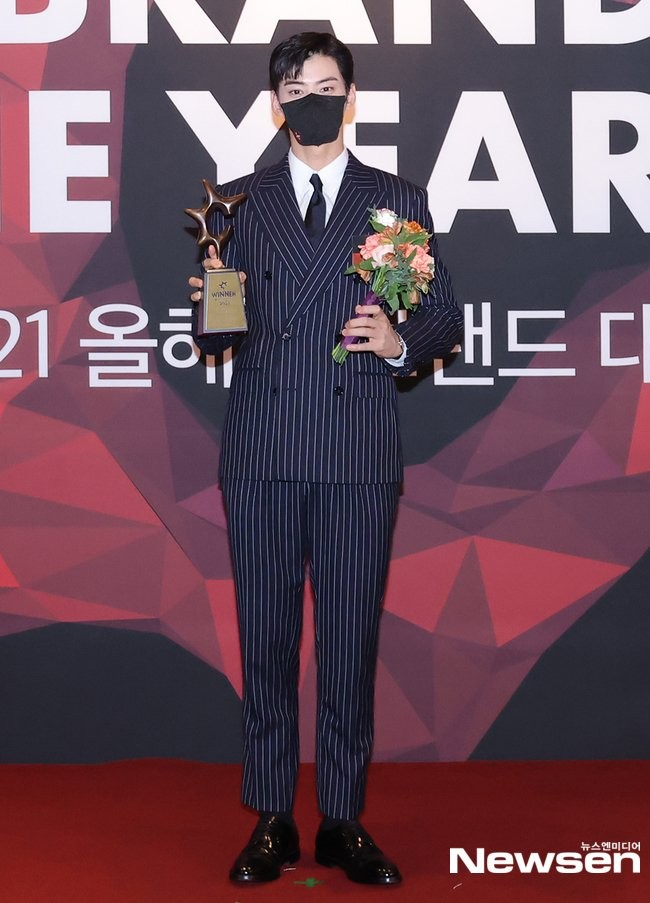 HOT- Cha Eun Woo, Yoo Jae Suk and the stars landed on the red carpet 2021 Brand of The Year Awards!! 1