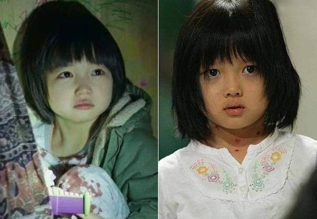 Choi Yoo Ri (left) and young Kim Yoo Jung